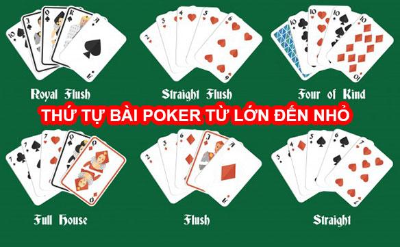 Thứ tự bài Poker – Xếp hạng các tay bài từ Mạnh đến Yếu